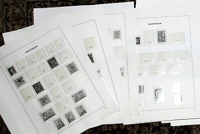 1966-1985 Australia Davo hingeless pages 20-62, B2-B9, AAT pages 1-5 Used