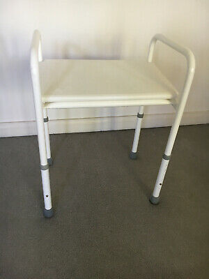 Adjustable Bath / Shower Seat/Stool Bench- White
