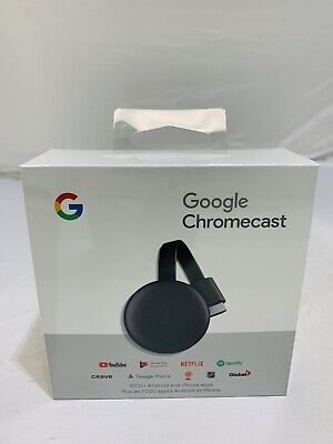New Google Chromecast 3rd Gen Digital HDMI Media Streaming Device (2018 Version)