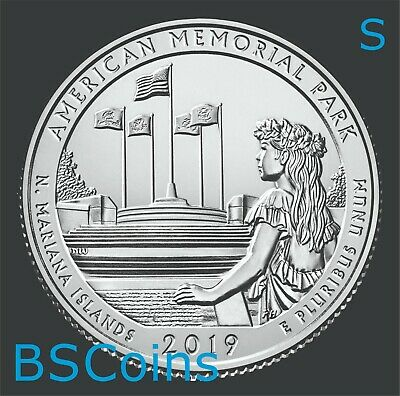 2019 S ATB Qtrs American Park, N Mariana Islands - BU ONE Coin - Ship TODAY!!