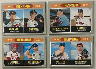2019 Topps Heritage Then & Now Lot PYC Complete Your Set