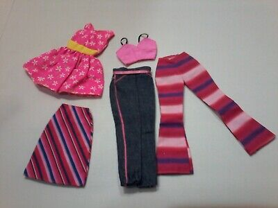 Barbie Fash. Ave. Pink Summer Clothing Lot 5PCS MT