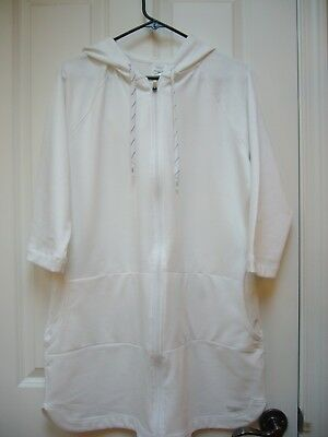 New Womens Speedo Aquatic Fitness Robe Cover Up with Hood White Sz Large b9481ee7a