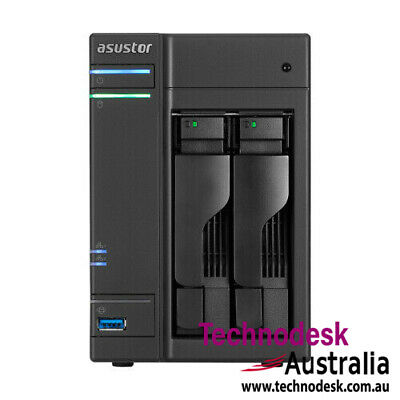 Asustor 2-Bay NAS, HDMI out, Intel Celeron Dual-Core, 2 GB SO-DIMM DDR3L, GbE x