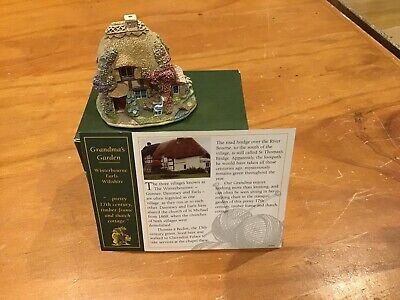 Lillyput Lane Cottage Collectable 'Grandma's Garden' EUC With Box And Deeds