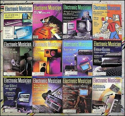 Electronic Musician Magazine 1992 - 12 Issues