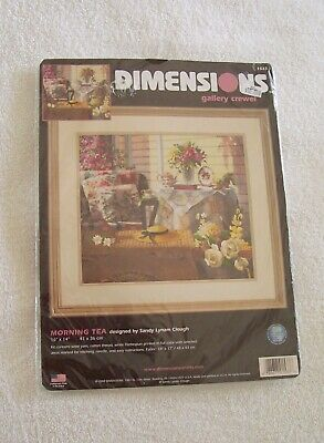 DIMENSIONS GALLERY CREWEL MORNING TEA  COUNTED CROSS STITCH KIT No. 1533