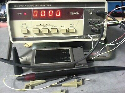 HP 5004A Signature Analyzer TESTED! Probes included