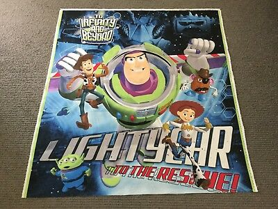 Toy Story Fabric Panel Buzz Lightyear Woody Disney Kids Space Boys Quilt Panel