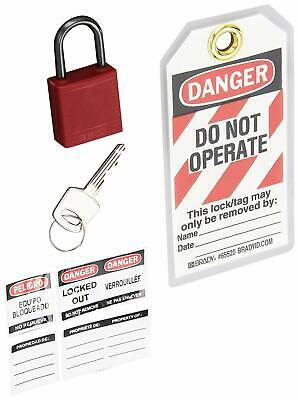 Compact Lockout Tagout Padlock Personal Safety Kit - 123143