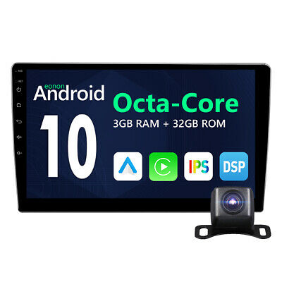 """10"""" inch Smart Android 10 4G WiFi Double DIN Car Radio Stereo Player GPS +Camera"""