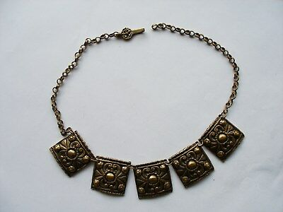 Antique. Handmade Necklace. Greek and Balkans. Decorations.