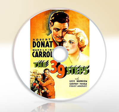 The 39 Steps (1935) DVD Classic Thriller Movie / Film Alfred Hitchcock