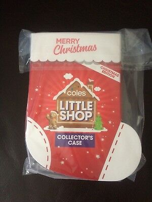 Coles Little Shop Mini Collectables >-< Christmas Edition >-< Case Only >-< Bnip