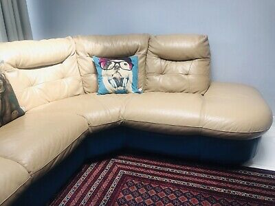 DFS Leather Corner Sofa Two Colours,three Months Insurance Cover