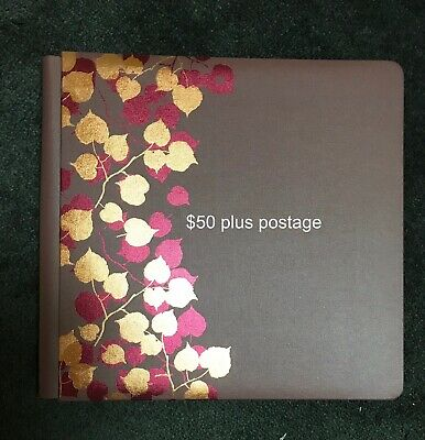 """Creative Memories 12"""" x 12"""" Brown Album With Foiled Autumn Leaves"""