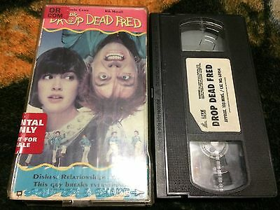 Drop Dead Fred VHS Tape Comedy Movie Phoebe Cates Rik Mayall Carrie Fisher RARE