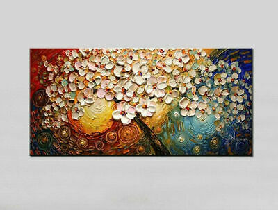 Modern Abstract Tree Oil Painting 100%Pure Hand-Painted Home Decor Art On Canvas