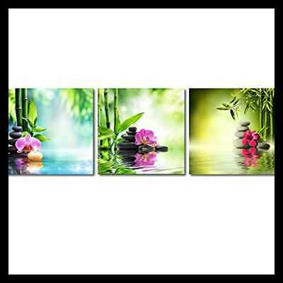 3 PC Spa Zen Stone Giclee Canvas Prints Wall Art Paintings Pictures For Living R