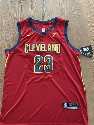best sneakers 69fa4 69316 LEBRON JAMES CLEVELAND Cavaliers Nike Icon Authentic Jersey 52 XL NBA New  NWT