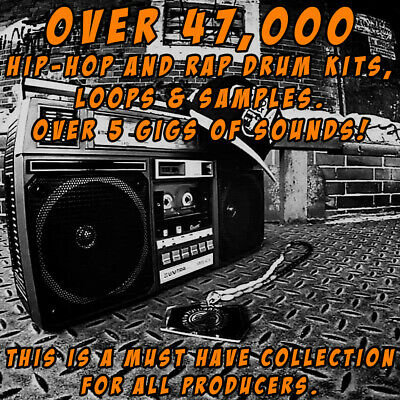 HIP HOP AND RAP DRUM KITS, Loops & Samples over 5 gigs of sounds.