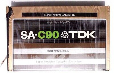 Sealed TDK SA C-90 High Resolution BLANK CASSETTE TAPE MADE IN USA 1979