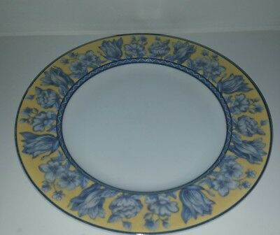 "Vintage Coventry Palace Garden Yellow 8"" Salad Plates Fine Porcelain"