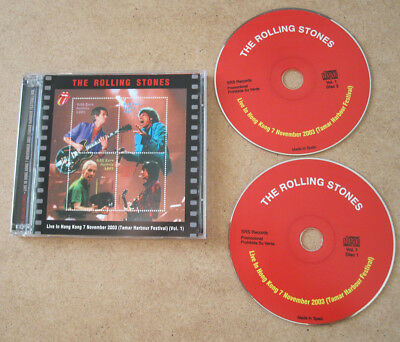 The Rolling Stones 2xCD's  Live In Hong Kong (Vol.1) 7,November 2003 + Bonus
