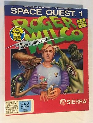 Space Quest I Roger Wilco in Sarien Encounter IBM PC Sierra Free Shipping!