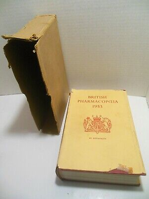 1953 British Pharmacopoeia with Slipcase UK Pharmaceutical Medical Medicines ER