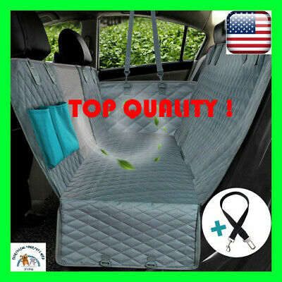 Dog Car Seat Cover View Mesh Waterproof Rear Back Mat Hammock With Zipper Pocket
