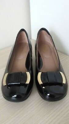 43e97d8907bc Hotter Comfort Concept Ladies Black Patent Leather Smart Court Shoes 4  Unworn
