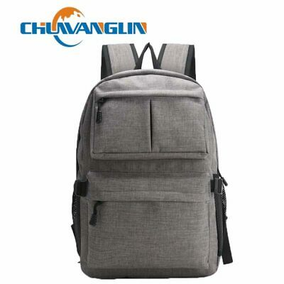 Chuwanglin Men Male Canvas Backpack College Student Backpack for Teenager
