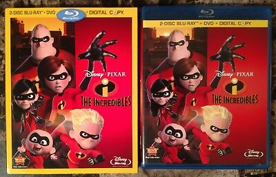 The Incredibles (Blu-ray + DVD, 2011, 4-Disc Set, w/ Slipcover) Disney Pixar