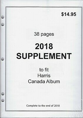 2018 Supplement to fit Harris Canada Stamp Album - 38 Pages!