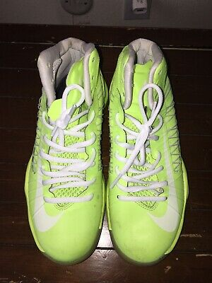 save off 8943f bb2eb Nike hyperdunk iD Neon Yellow White Sneakers Mens Size 6