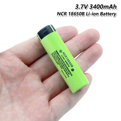 High Drain NCR 18650B Battery 3.7V 3400mAh Rechargeable Max 20A For Torch Vape