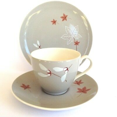 HEAVENLY ROYAL DOULTON 1950s 'ANGEL WINGS' VINTAGE CHINA TEA CUP SAUCER PLATE