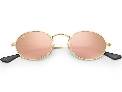 7ded8e8b27 Ray-Ban Oval Flat Lens Sunglasses in Gold Copper Flash RB3547N 001 Z2 48