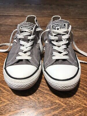 e2cf9697760693 CONVERSE ONE STAR Sneakers Women s Size 5.5 Gray Canvas Sneakers ...