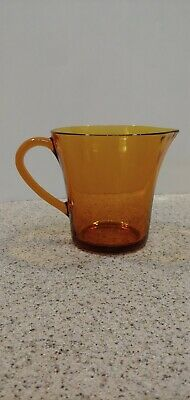 VTG Duralex Amber Glass Small Sauce Pitcher Cristal d'Arques Made In France