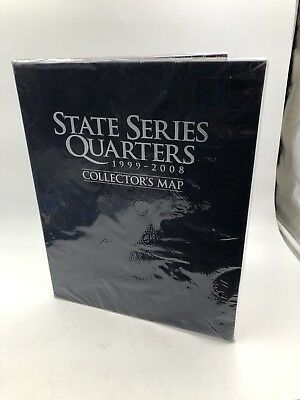 "Complete coin ""D"" State Quarter Series Set with State &Territory Map"