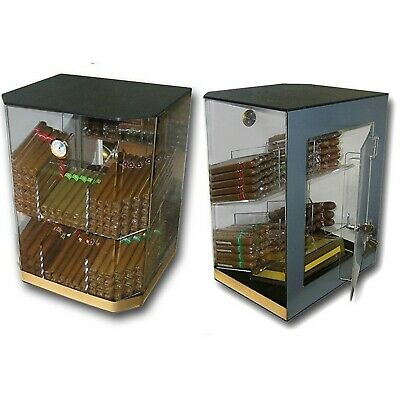 Prestige Import Group - The Franklin Acrylic Clear Humidor Display - Up to 15...