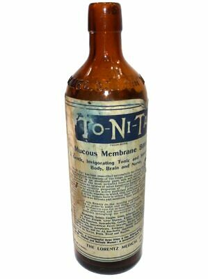 Antique To-Ni-Ta Mucous Membrane Bitters Medicine Bottle