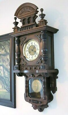 Clocks Wall Gustav Becker Complete Silesia P64 Movement With Shime K8 Weights