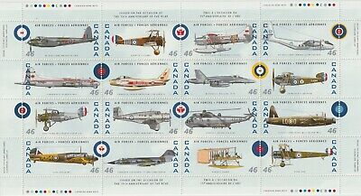 Canada 1999 Souvenir Sheet 1808 - Canadian Air Forces 1924–1999 - MNH