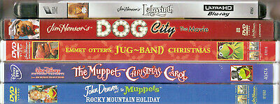 Jim Henson on DVD or Blu-ray; 3rd one FREE! Muppets, puppets; TV movies, shows