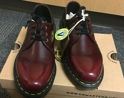 Dr Martens vegan 1461 3 eye shoes in red