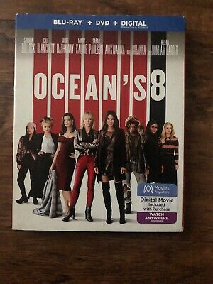 Oceans 8 Blu Ray Dvd 2 Disc Set + Slipcover Sleeve Free Shipping