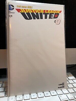 Justice League United #0 - NM - Blank Sketch Variant - DC New 52 - Lemire